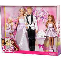 Набор кукол Свадьба Барби / Barbie I Can Be A Bride Wedding Day 4 Pack, фото 7