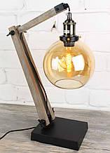 Настольная лампа прожектор в стиле лофт Модель 17. Лампа Эдиссона в комплекте.