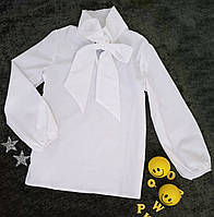 "Блуза на девочку ""Мира"", р. 122-140, молочный, фото 1"