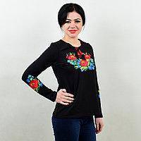 """Трикотажная футболка вышиванка длинный рукав """"Разноцветные листочки"""""""