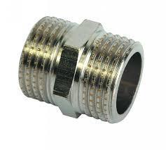 Ниппель Премиум латунный никелированный 25мм ГОСТ 8958-75