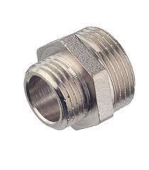 Ниппель Премиум переходный  никелированный 15/20мм ГОСТ 8958-75
