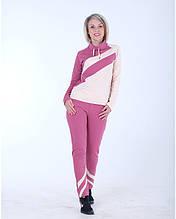 Женский спортивный костюм розовый Stylish fashion размеры 40-46