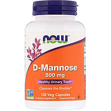 "D-манноза NOW Foods ""D-Mannose"" 500 мг (120 таблеток)"