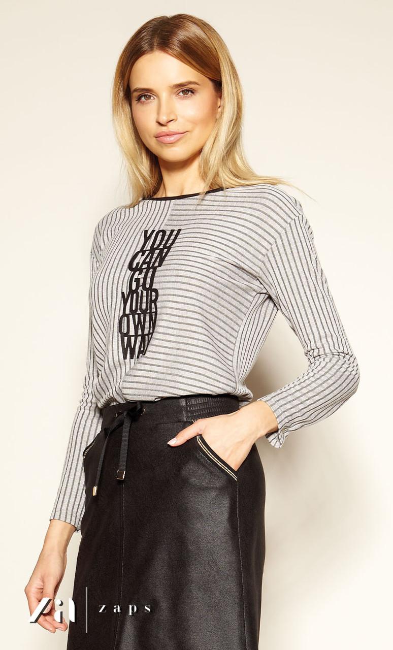 Женская блуза Zarina Zaps бежевого цвета, коллекция осень-зима