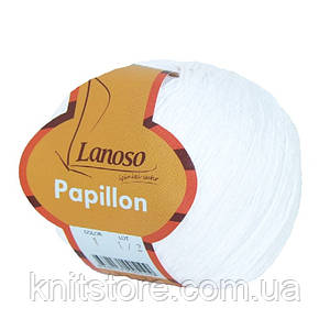 Пряжа Lanoso Papillon Белый