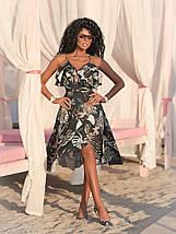 "Асимметричное летнее платье на запах ""Кэндис"" с оборками (4 цвета), фото 2"