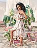 "Асимметричное летнее платье на запах ""Кэндис"" с оборками (4 цвета), фото 5"