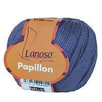 Пряжа Lanoso Papillon Синий