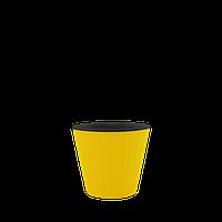 Горшок цветочный Ибис 17,9х14,7 см  желто-черный, Украина