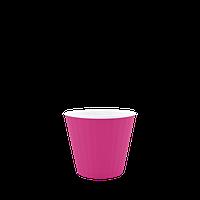 Горшок цветочный Ибис 13,0х11,2 см с двойным дном розово-белый 0,86 л, Украина