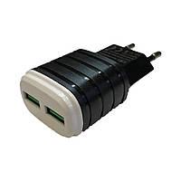 Зарядное устройство Charger 2 USB 2000 мА черный