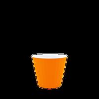 Горшок цветочный Ибис 15,7х13,0 см с двойным дном оранжево-белый 1,6 л, Украина