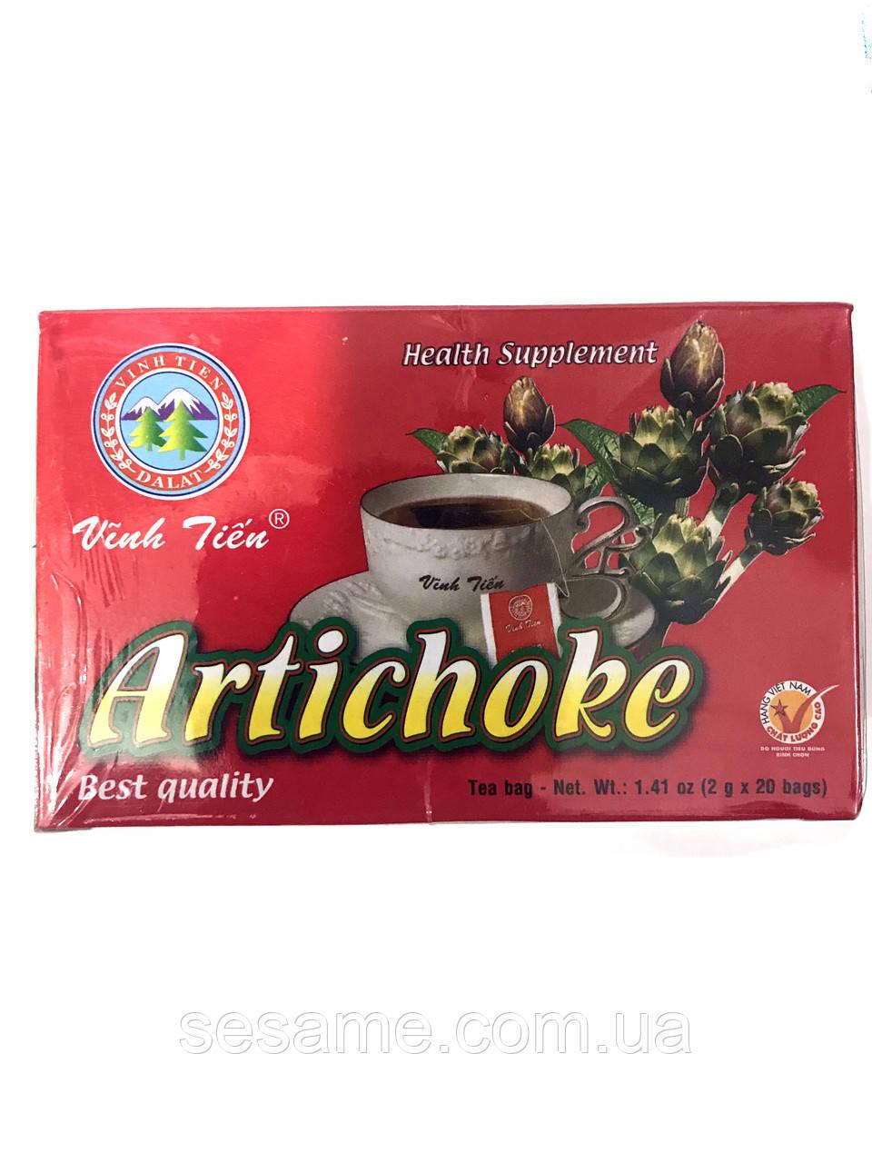 Чай с артишоком  Vinh Tien Artichoke 2g*20 пакет. (Вьетнам)