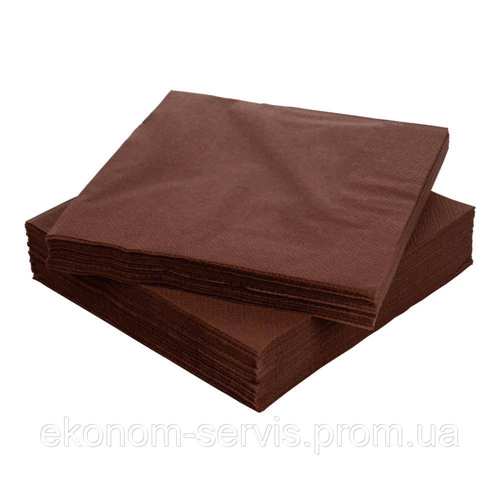 Салфетка гостевая ТМ Silken Шоколад 33*33 2-сл, 50шт