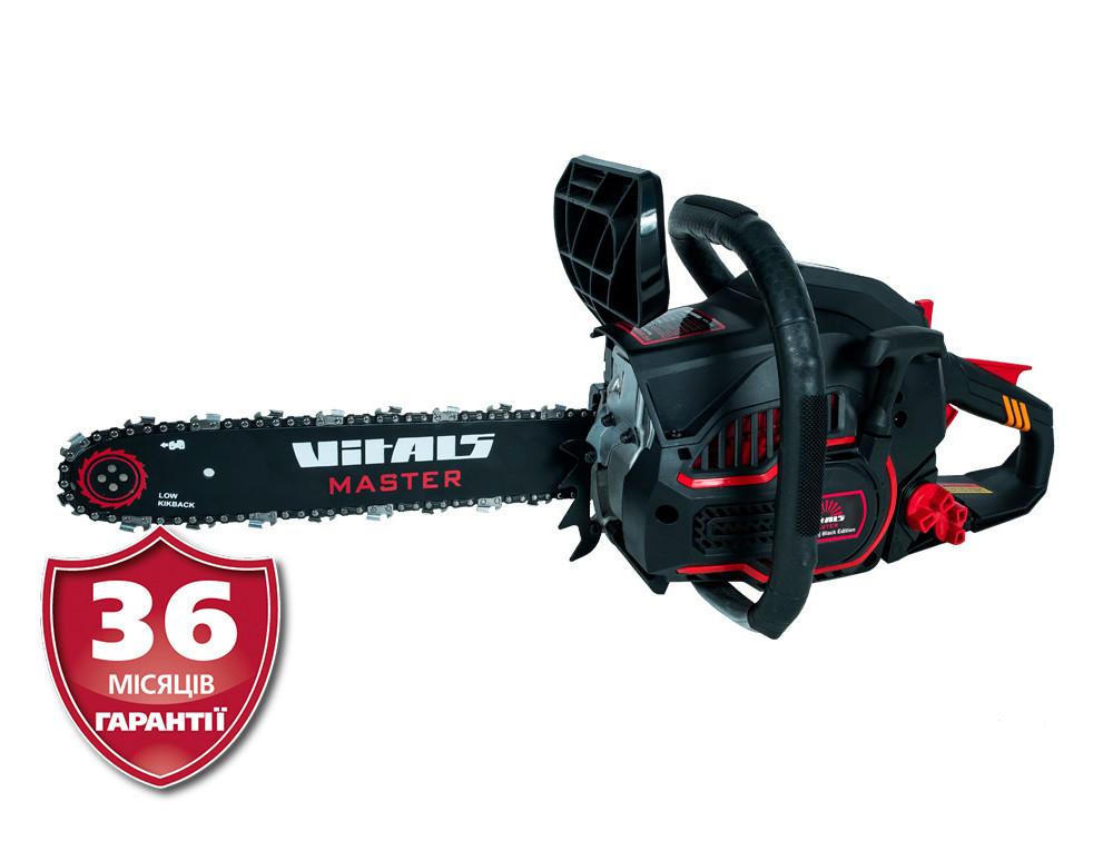 Бензопила цепная 1,9 л.с., 16 дюймов, Латвия Vitals Master BKZ 4019j Black Edition