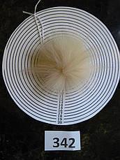 Меховой помпон Песец, Крем-беж, 9/12 см, 342 ( для мех. розетки), фото 3