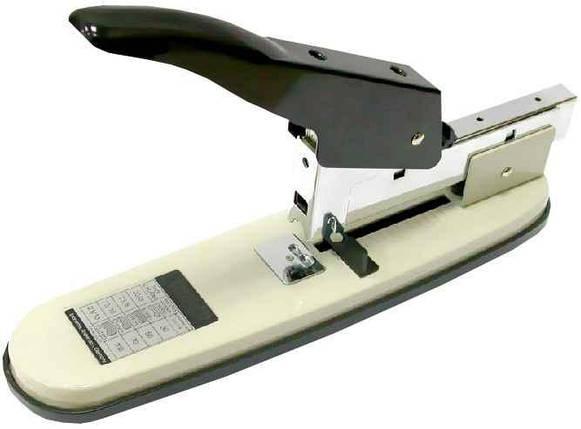 Степлер  Economix 40210, №23/13, до 100 аркушів, металевий корпус, фото 2