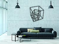 Деревянный декор на стену WHICH.BLACK Art cube (75x65 см)
