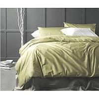 Однотонное постельное белье  сатин оливка OLIVE, разные размеры семейный