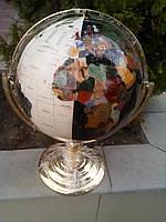 """Эксклюзивный глобус настольный,,географический , """"День-Ночь"""" с  разноцветными минералами.Производство Тайвань."""