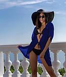 Пляжна туніка купити коротка парео пляжна туніка шифоновий халат, фото 9