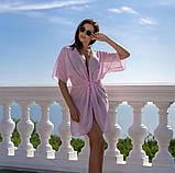 Пляжна туніка купити коротка парео пляжна туніка шифоновий халат, фото 5