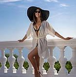 Пляжная туника купить короткая парео пляжна тунiка шифоновый халат, фото 6