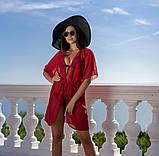 Пляжная туника купить короткая парео пляжна тунiка шифоновый халат, фото 5