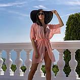 Пляжна туніка купити коротка парео пляжна туніка шифоновий халат, фото 3