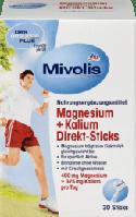 Das gesunde Plus Mivolis Magnesium + Kalium Direkt-Sticks харчова добавка з магнієм і калієм 30 стіків