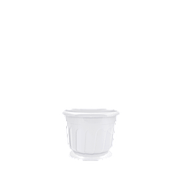 Горшок цветочный Рина 12 см белый  0,55 л, Украина