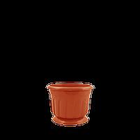 Горшок цветочный Рина 12 см коричневый  0,55 л, Украина