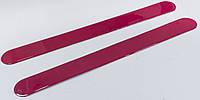 Защитные декоративные наклейки на порог автомобиля. Пара цвет красный