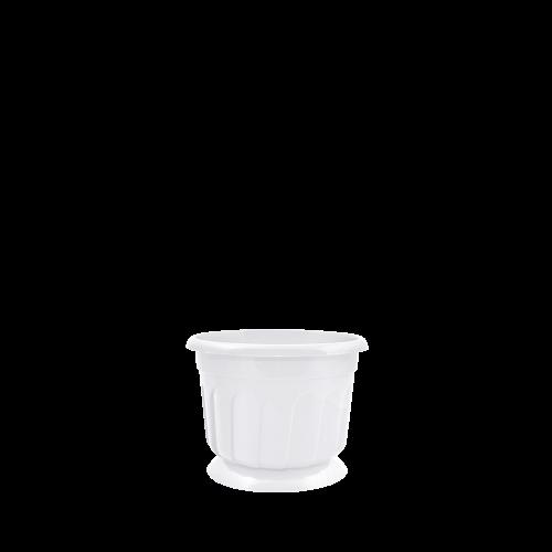 Горшок цветочный Рина 20 см  , белый , Украина