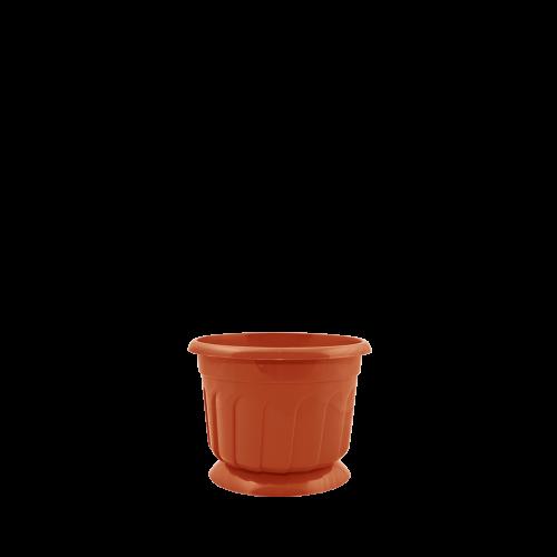 Горшок цветочный Рина 20 см теракот 2,6 л, Украина
