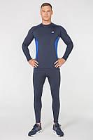 Мужской спортивный костюм для бега Rough Radical Intensive(original) компрессионная спортивная одежда,тайтсы+рашгард Мужской, M, Темно-синий