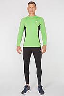 Мужской спортивный костюм для бега Rough Radical Intensive(original) компрессионная спортивная одежда,тайтсы+рашгард Мужской, XL, Зеленый