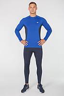 Мужской спортивный костюм для бега Rough Radical Intensive(original) компрессионная спортивная одежда,тайтсы+рашгард Мужской, M, Голубой