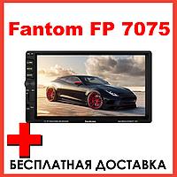 Автомагнітола 2 din магнітола з bluetooth екраном хорошим звуком камерою заднього виду Fantom FP-7075, фото 1