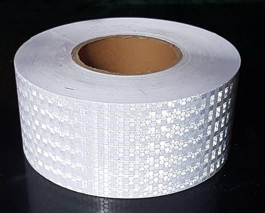 Светоотражающая самоклеющаяся БЕЛАЯ лента 10х100 см, фото 2