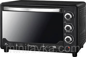 Электродуховка Liberton LEO-480 Black Mirror 48 л. 2000 Вт