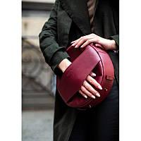 Круглая сумка-рюкзак maxi Виноград - бордовая