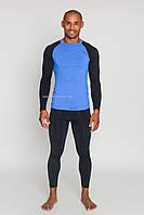 Термобелье мужское спортивное Tervel Comfortline (original), комплект, зональное, бесшовное Черно-синий, XXL