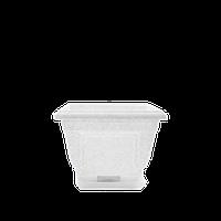 Горшок цветочный Петуния 18х18 см белый  2 л, Украина