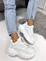 Кроссовки Violeta Classic белые на платформе