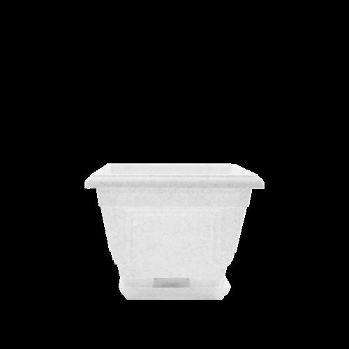 Горшок цветочный Петуния 23х23 см белый  3,6 л, Украина