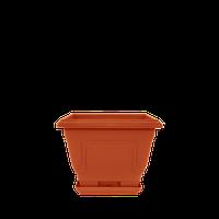 Горшок цветочный Петуния 23х23 см коричневый  3,6 л, Украина