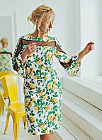 Шикарное, элегантное,оригинальное платье Элисон 02, ткань коттон+сетка,размеры С,М,Л,ХХЛ,52, цветы