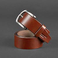 Мужской кожаный ремень 40 мм коричневый